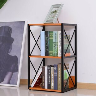 Kindel 3 Tier Wood X-Frame End Table