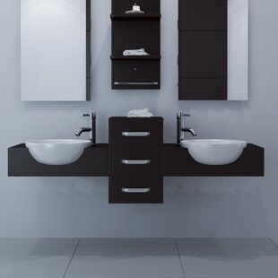 Modus 59 Wall-Mounted Double Bathroom Vanity Set by JWH Living