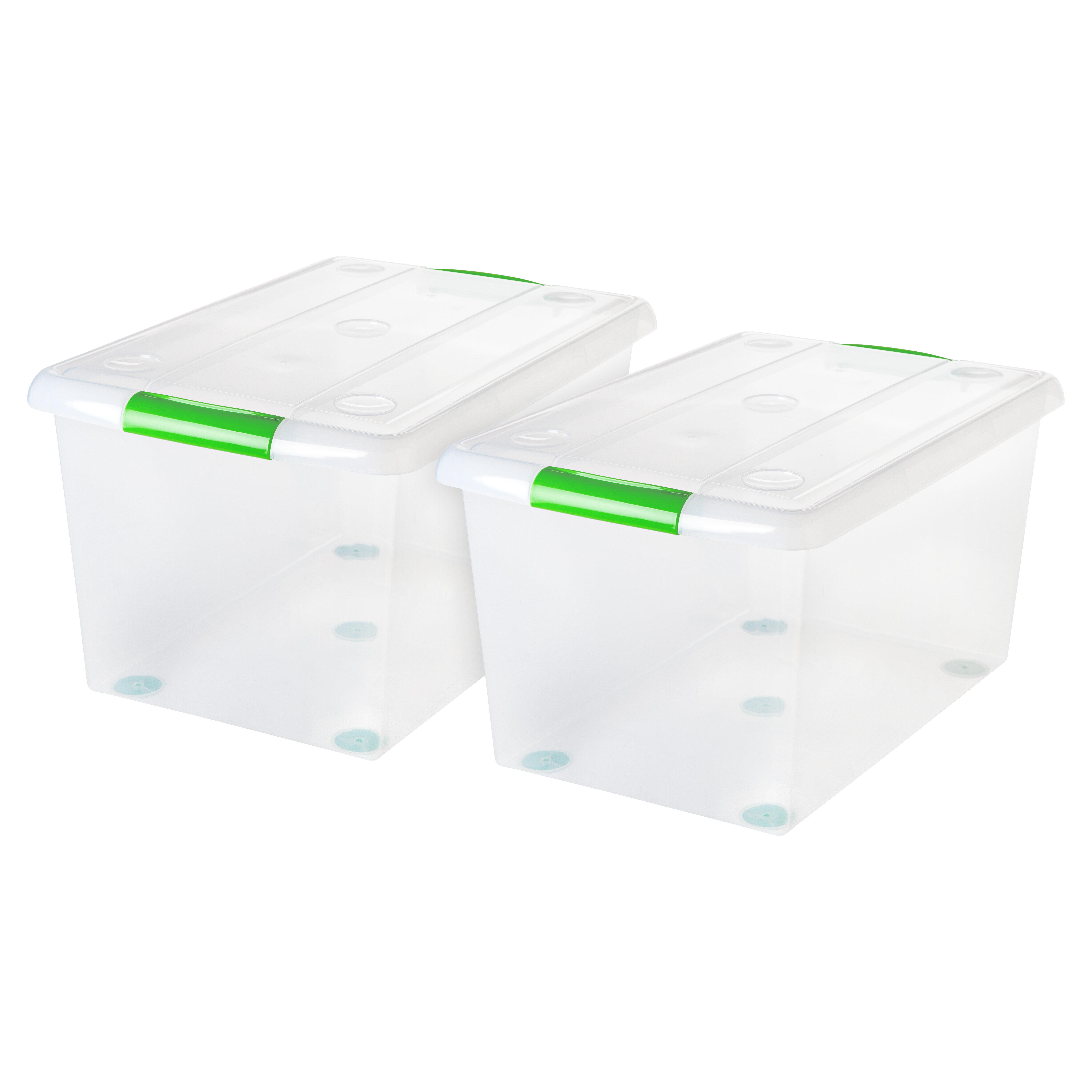 Assorted Colour Large Ratan Basket Home Office Storage Plastic Stackable
