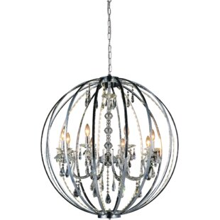 House of Hampton Caesar 8-Light Candle-Style Chandelier