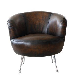 Modena Barrel Chair by Lazzaro Leather