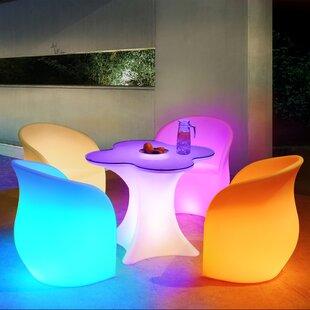 Orren Ellis Cagle LED 5 Piece Dining Set (Set of 5)