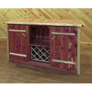 Greely Cedar Log Bar Cabinet by Loon Peak