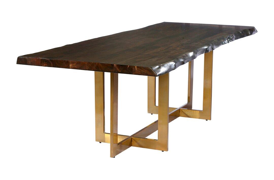 Everly Quinn Minni Acacia Wood Slab Dining Table Reviews Wayfair