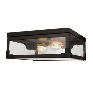 Latitude Run Hudson Square 2-Light Flush Mount