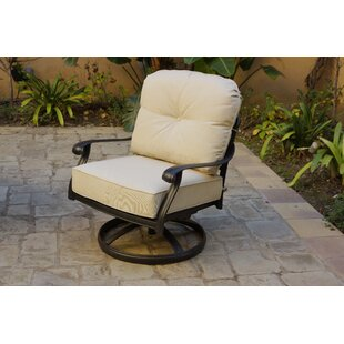Burd Rocker Swivel Patio Chair with Cushions (Set of 4)
