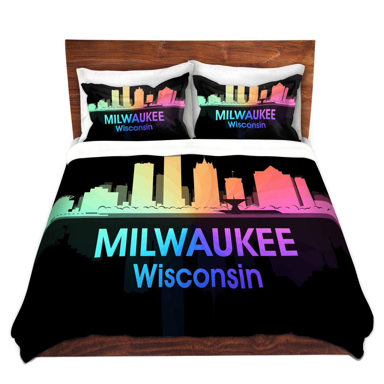 East Urban Home City V Milwaukee Wisconsin Duvet Cover Set Wayfair