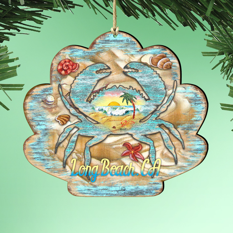 The Holiday Aisle Seashell Crab Hanging Figurine Ornament Wayfair