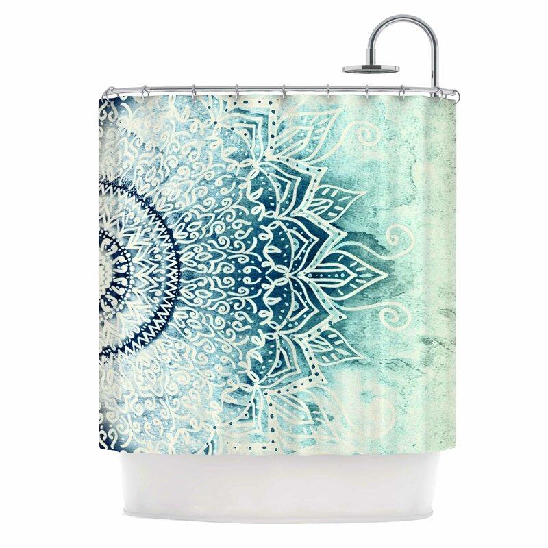 East Urban Home Blue Mina Mandala Shower Curtain