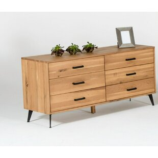 Langley Street Hill Modern 6 Drawer Double Dresser