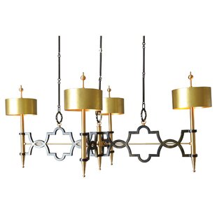 Global Views Quatrefoil 8-Light Shaded Chandelier