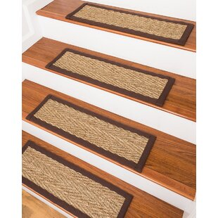 LaKendra Beach Seagrass Beige Stair Treads (Set Of 13)
