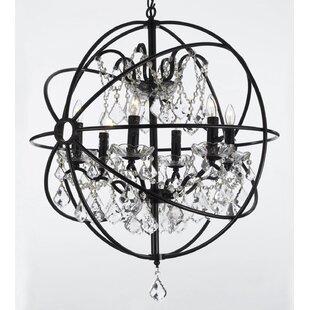 Calderdale Orb 6 Light Led Globe Chandelier