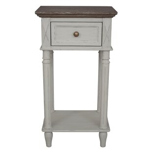 Iker Ashbury 2-Tier End Table with Storage