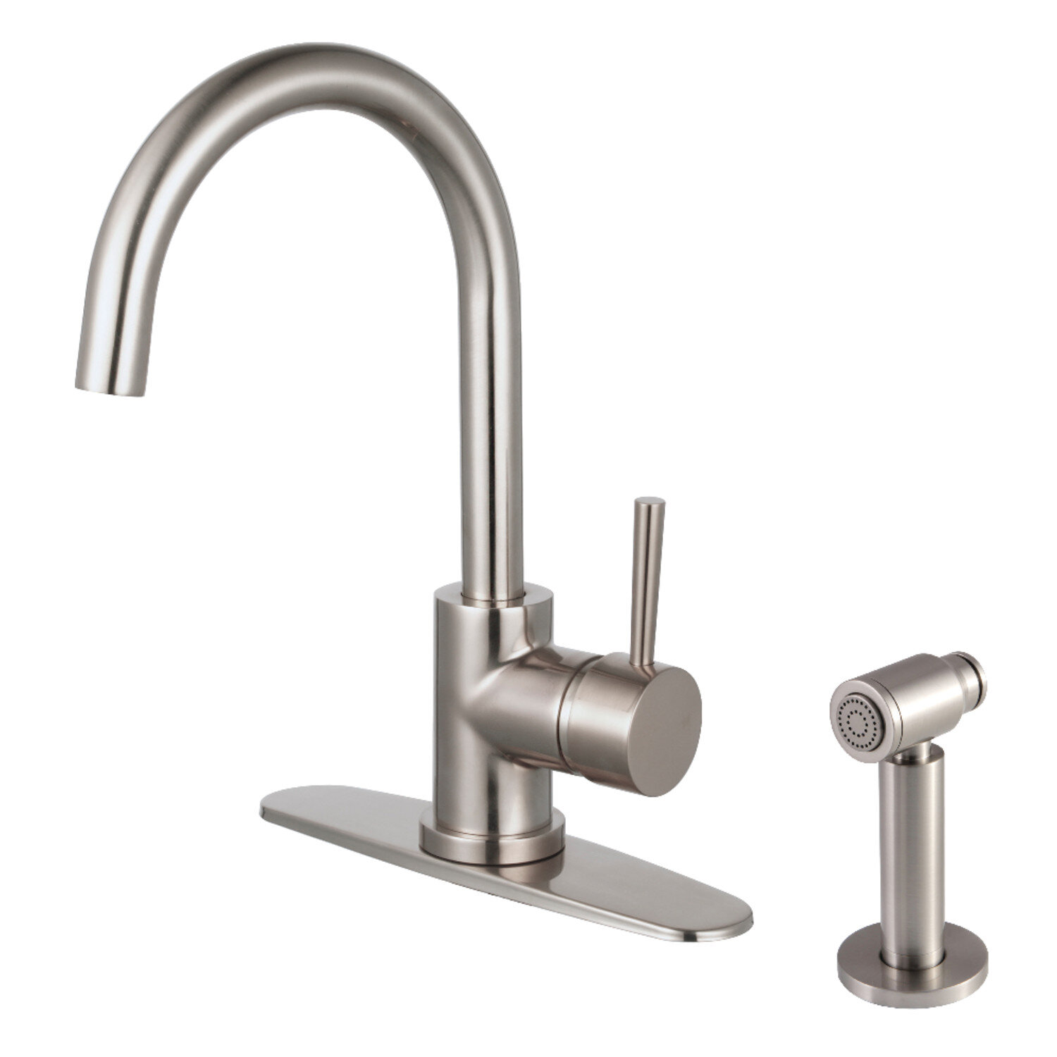Kingston Brass Concord Single Handle Kitchen Faucet With Side Spray