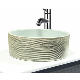 Transolid Chase Circular Vessel Bathroom Sink