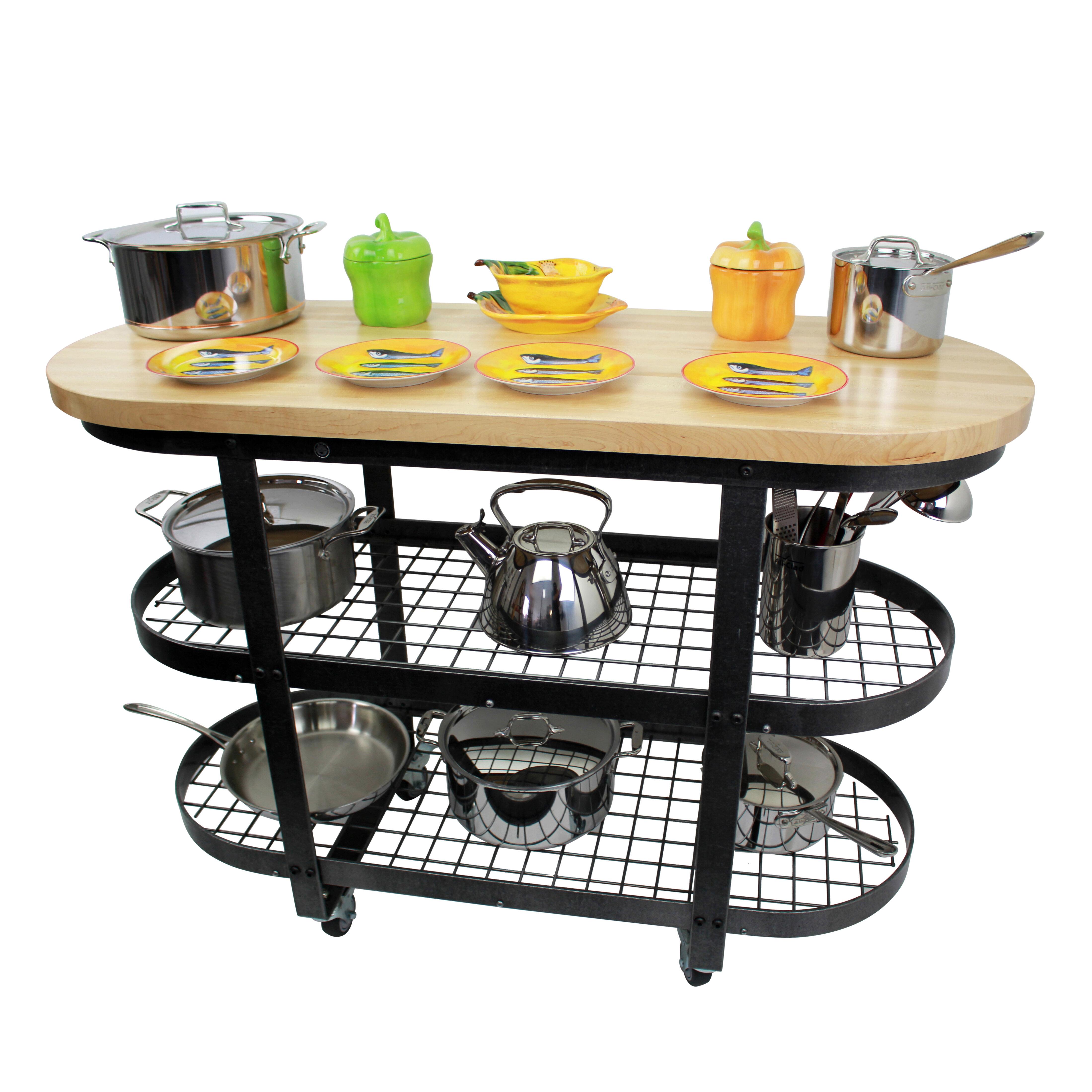 Enclume Premier Kitchen Cart with Butcher Block Top | Wayfair