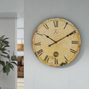 Reviews Oversized Pendulum 23 Wall Clock by One Allium Way