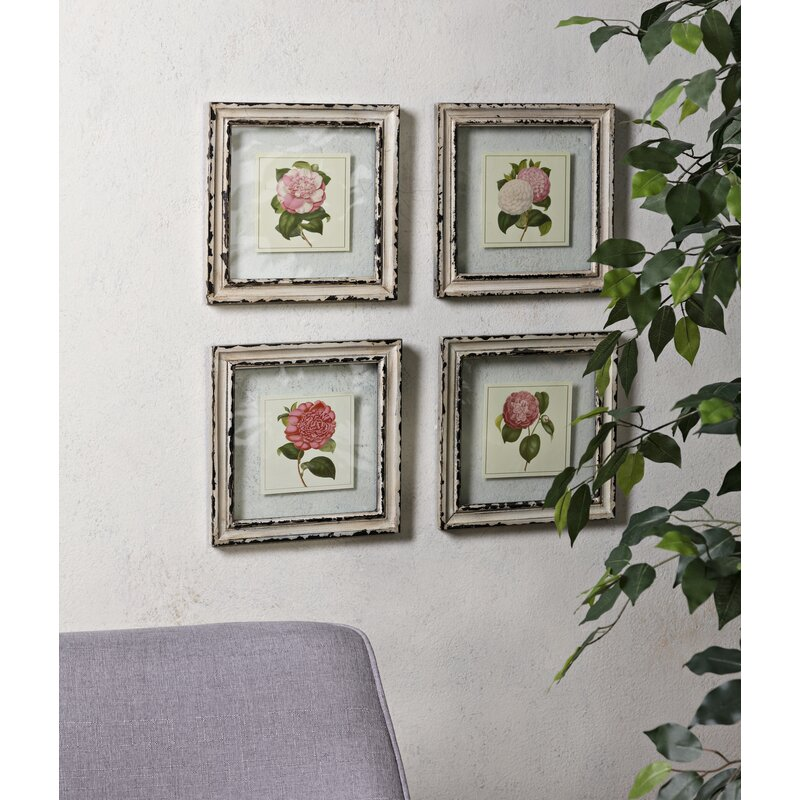 Cottage Floral Framed Watercolor Painting Print Reviews Birch Lane