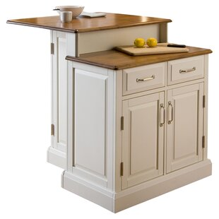 Susana Kitchen Island with Wooden Top