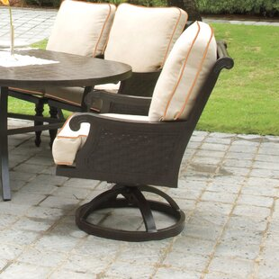 Jakarta Swivel Patio Dining Chair with Cushion