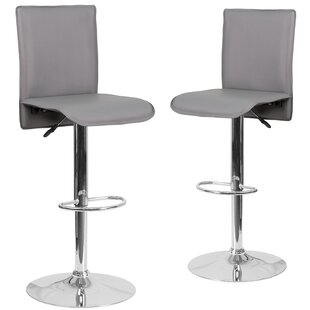 Norby Adjustable Height Swivel Bar Stool (Set of 2)