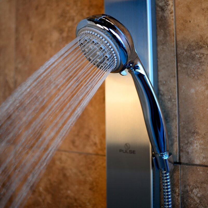 Aloha Single Handle Showerpanel with 2 Body Sprays and Rain Style Shower Head