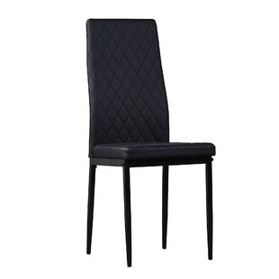 Rotraut Upholstered Parsons Chair in Black Set of 6
