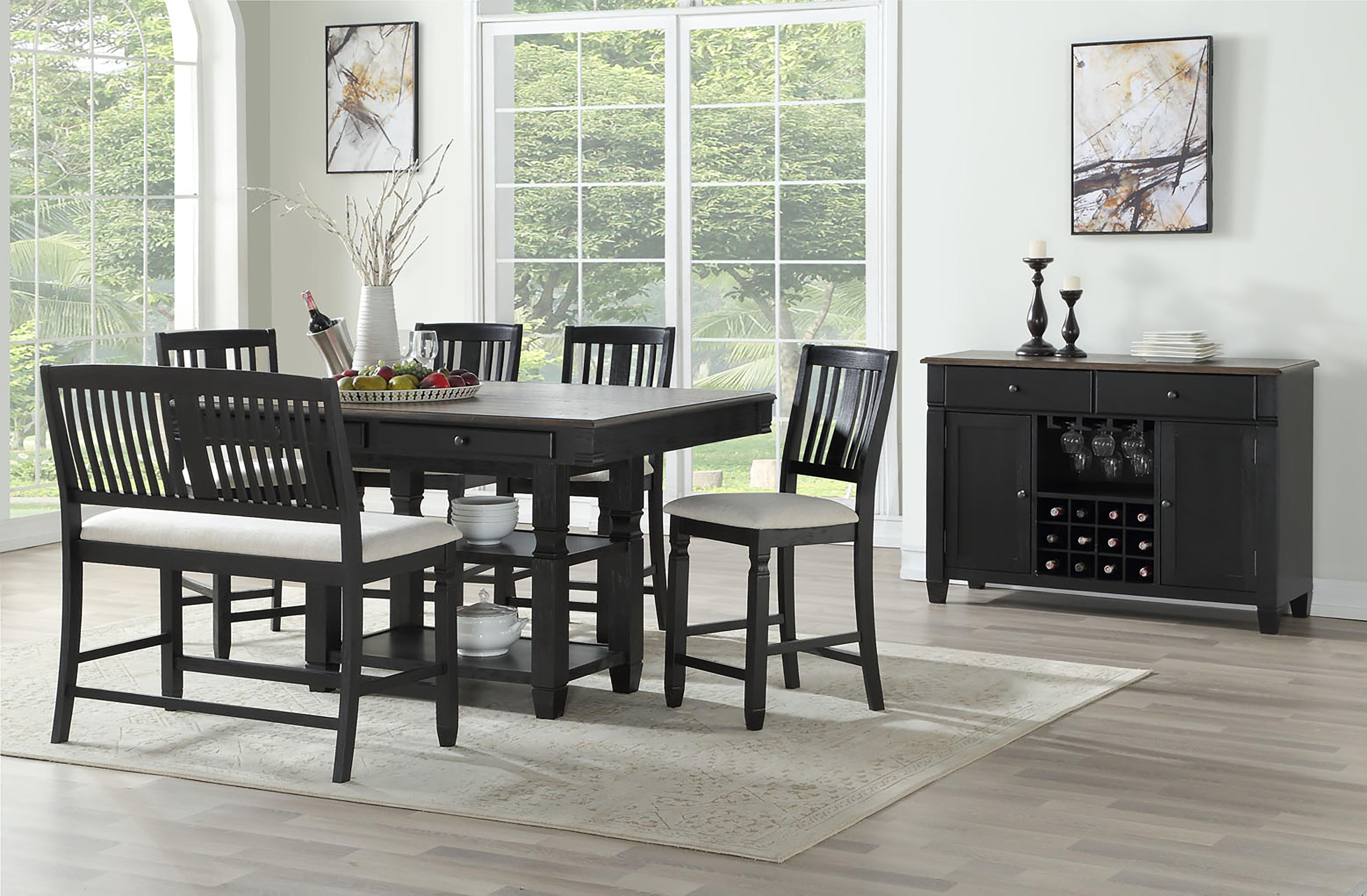 Rosalind Wheeler Elara Counter Height Solid Wood Dining Table Wayfair