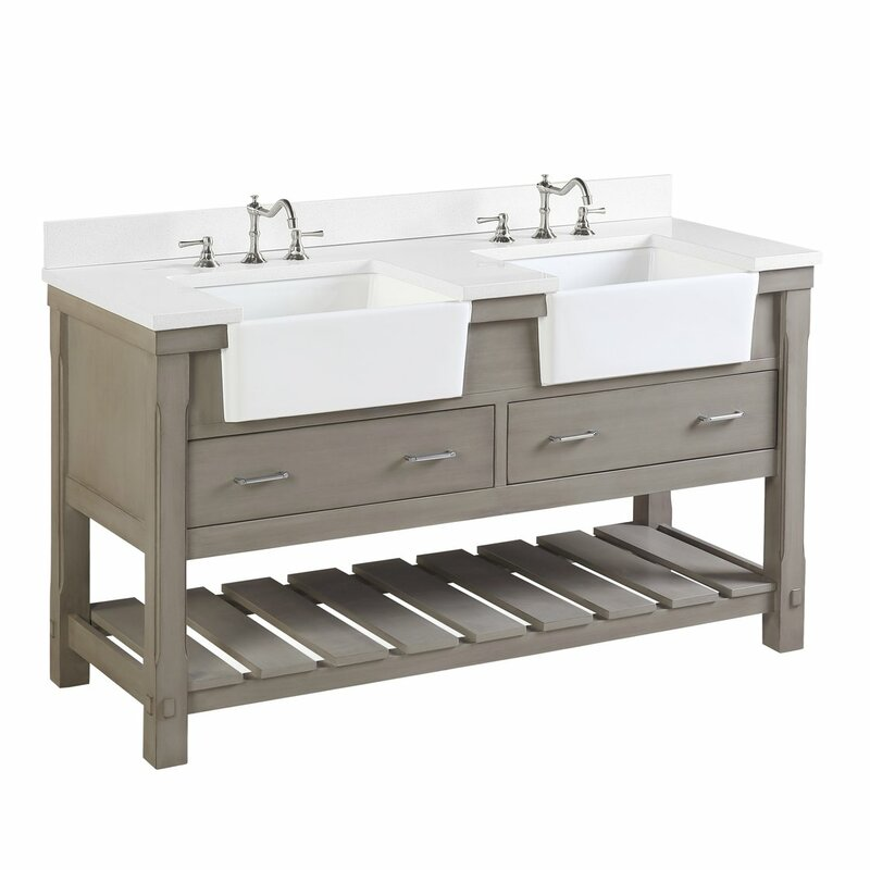 Skelly 60 Double Bathroom Vanity Set