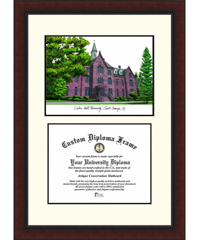 Campus Images Ncaa Seton Hall Legacy Scholar Diploma Picture Frame Wayfair