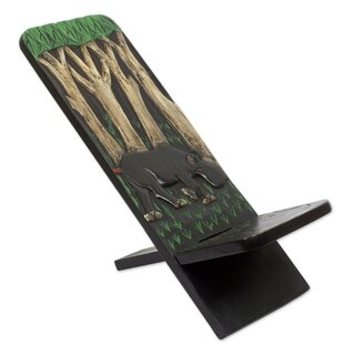 Novica African Jungle Wood Lazy Chair