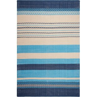 Compare & Buy Zen Hand-Woven Blue Area Rug By Fab Habitat