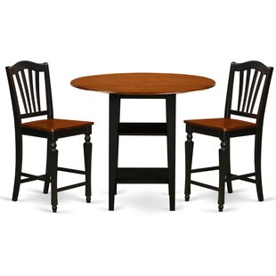 Tyshawn Counter Height 3 Piece Pub Table Set Charlton Home