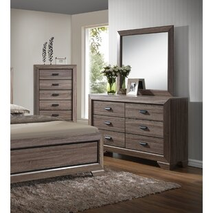 Lehn 6 Drawer Double Dresser with Mirror