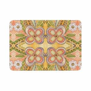 Louise Machado Ethnic Floral Illustration Memory Foam Bath Rug