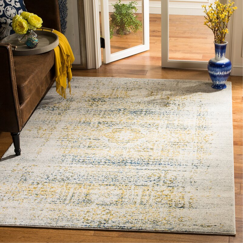 Trent Austin Design Mccranie Cotton Ivory Blue Area Rug Reviews Wayfair
