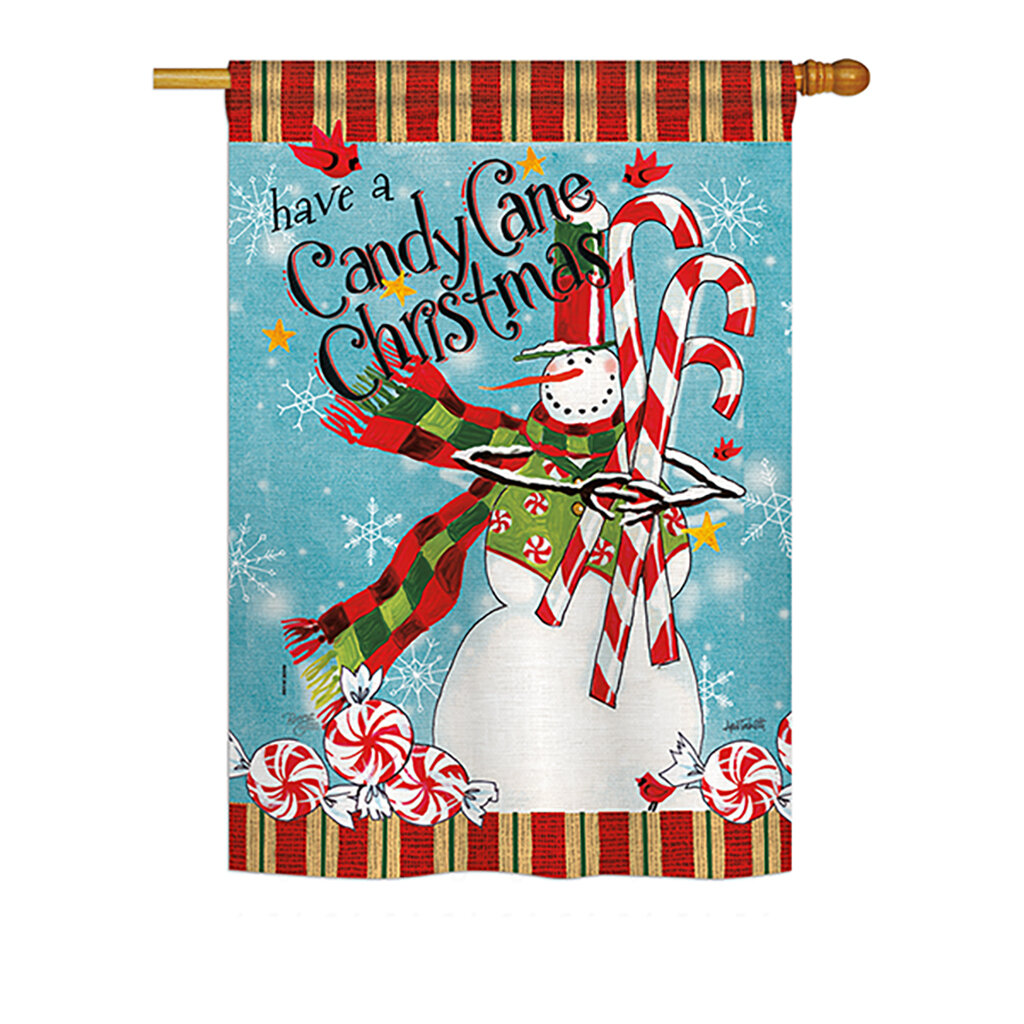 Breeze Decor Candy Cane Christmas Winter Vertical American 2 Sided Polyester 40 X 28 In Garden Flag Wayfair