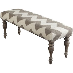 Waddington Flatweave Ottoman by Gracie Oaks
