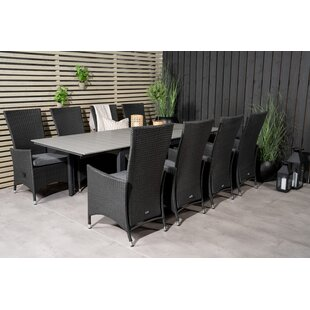 Alamea 8 Seater Dining Set With Cushions By Sol 72 Outdoor