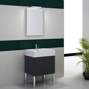 Smile 32 Single Footed Bathroom Vanity Set with Mirror by Iotti by Nameeks