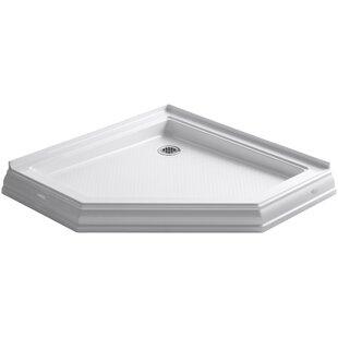 Shop For Memoirs 42 x 42 Neo-Angle Single Threshold Rear Center Drain Shower Base ByKohler