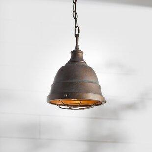 Compare prices Elinna 1-Light Cone Pendant By Beachcrest Home