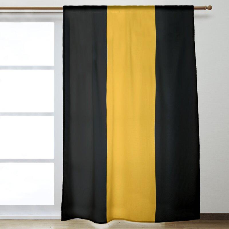 Artverse National Hockey Stripes Nhs Pittsburgh Room Darkening Rod Pocket Single Curtain Panel Wayfair