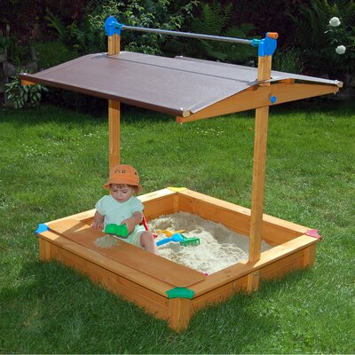 Maxi Square Sandbox with Cover Exaco