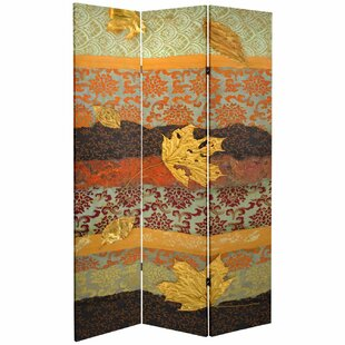 Woolford October Gold 3 Panel Room Divider by Millwood Pines