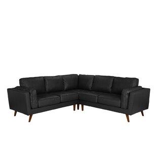 Mercury Row Marrufo Leather Sectional