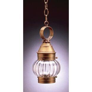 Read Reviews Onion 1-Light Outdoor Hanging Lantern By Northeast Lantern
