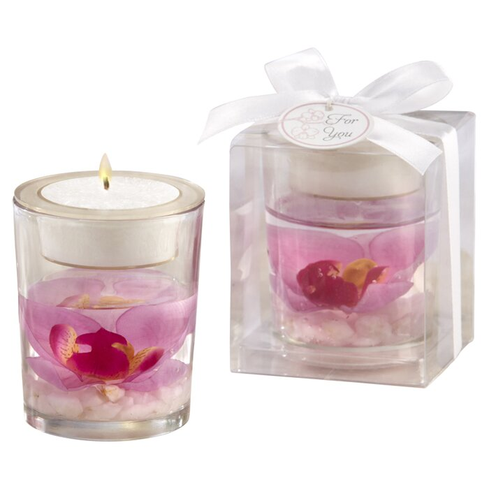 Le Prise 2 95 Glass Tabletop Tealight Holder With Candle Included Reviews Wayfair