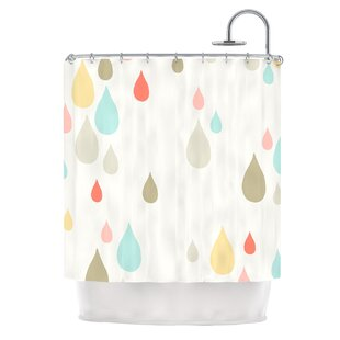 Rainy Days by Very Sarie Rain Single Shower Curtain